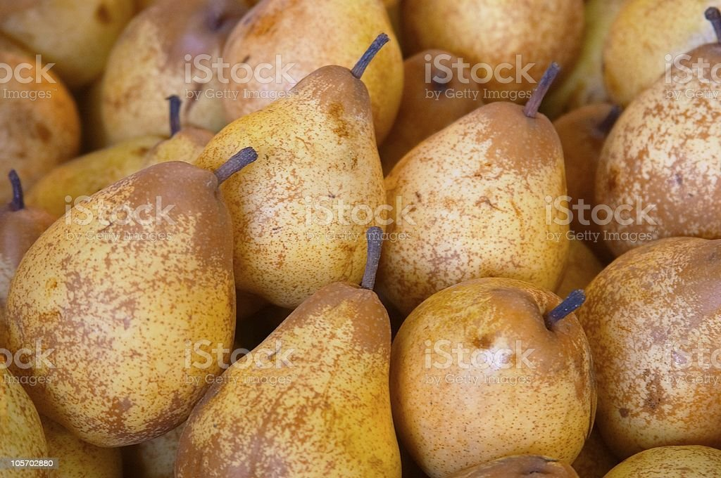 Pears at the market stock photo