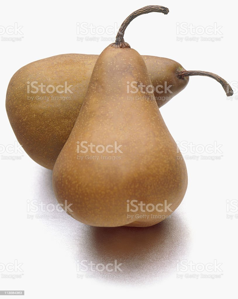 pears cut out on white stock photo