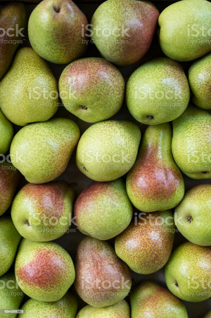 Pears for sale stock photo