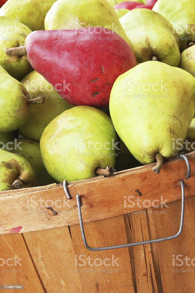 Pears Fruit Basket Produce royalty-free stock photo