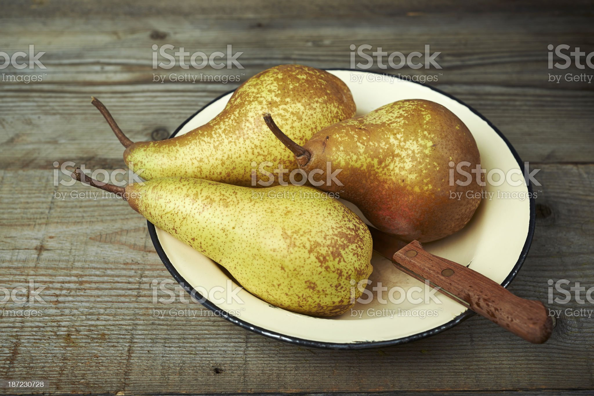 Pears in a plate royalty-free stock photo
