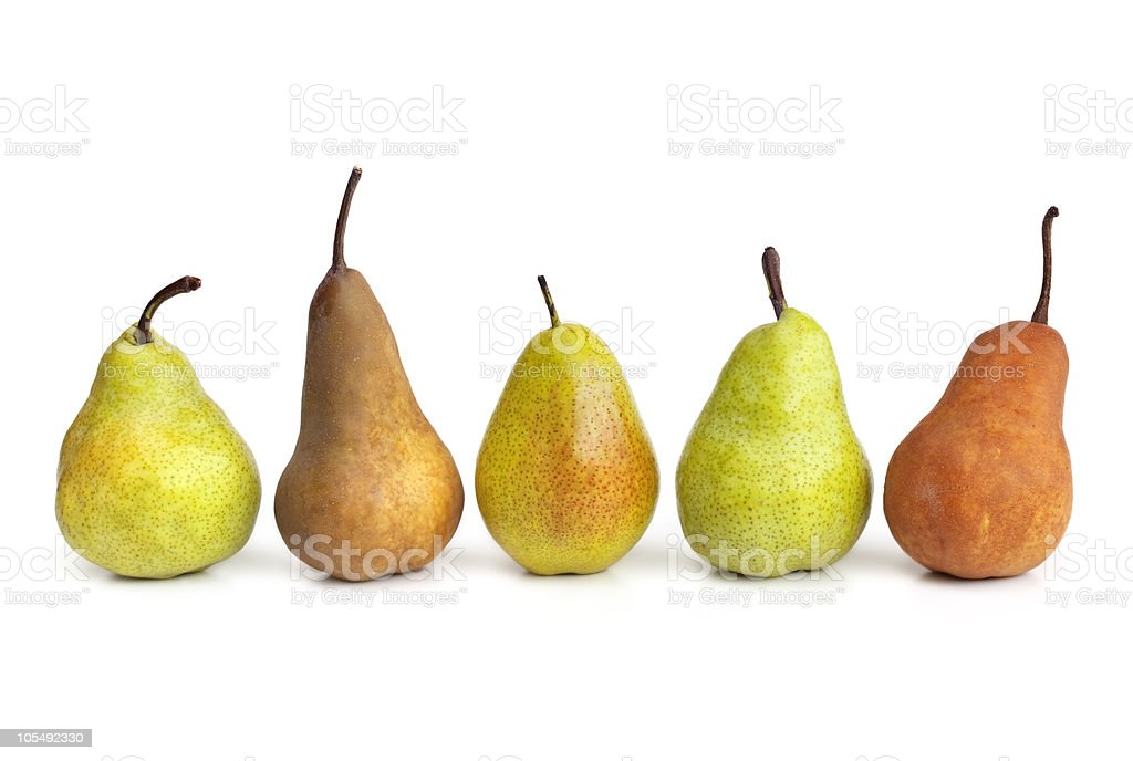 Pears in a Row stock photo
