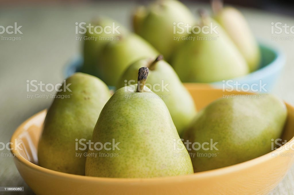 Pears in Bowls stock photo