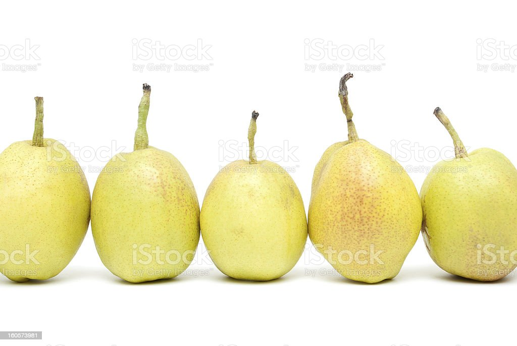 Pears isolated on white background stock photo