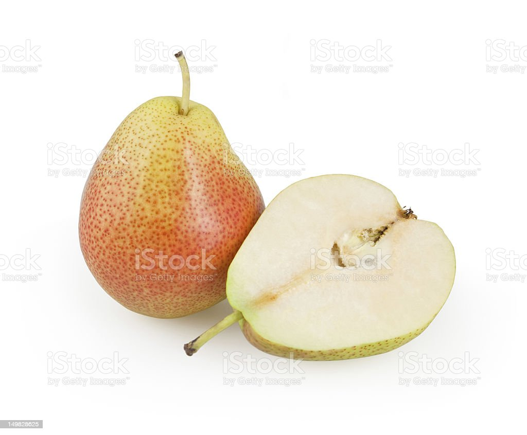 Pears isolated on white royalty-free stock photo
