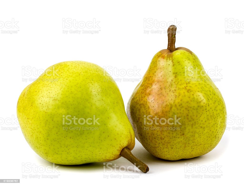 pears on a white background stock photo