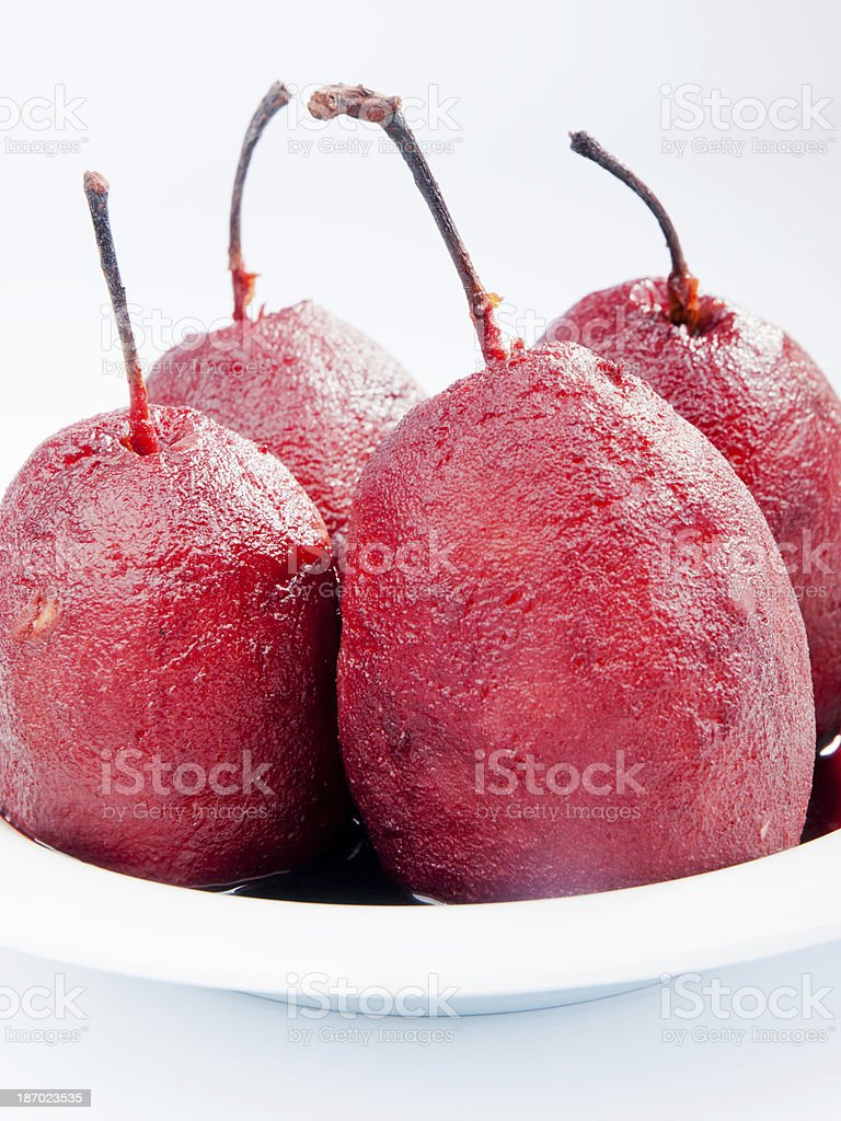 Pears with red wine royalty-free stock photo