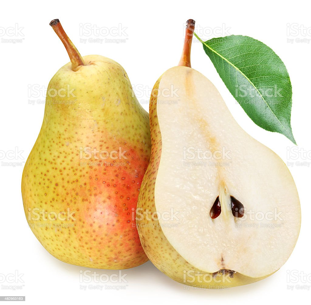 Pears with slice. stock photo