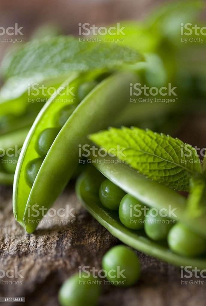 Peas and Mint stock photo