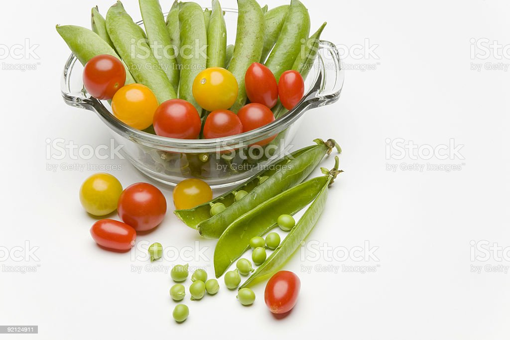 Peas and Tomatoes royalty-free stock photo