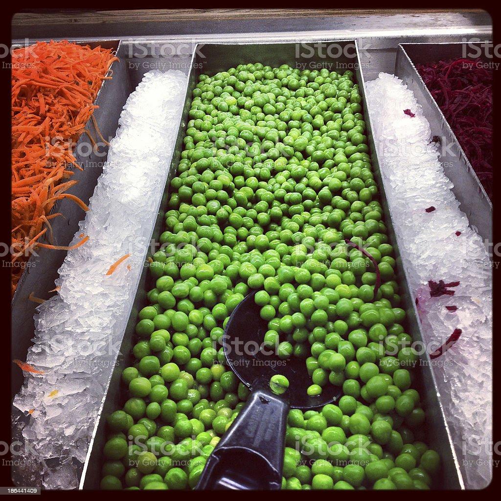 Peas At The Salad Bar stock photo