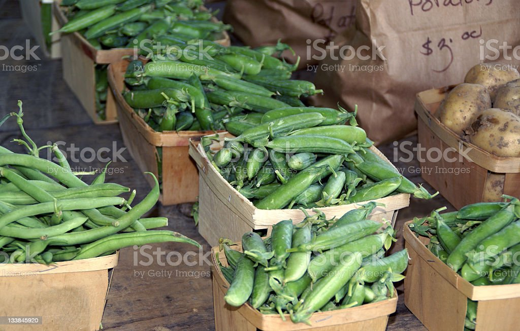 Peas Beans and Potatoes royalty-free stock photo
