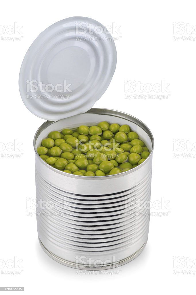 Peas can royalty-free stock photo
