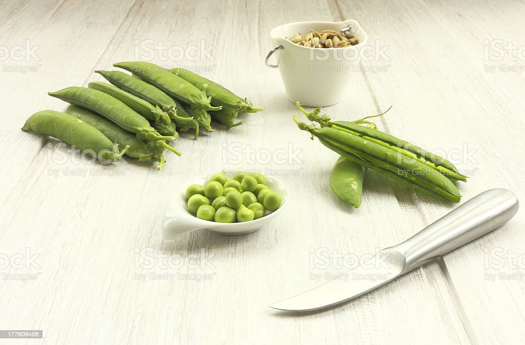 Peas in still life royalty-free stock photo