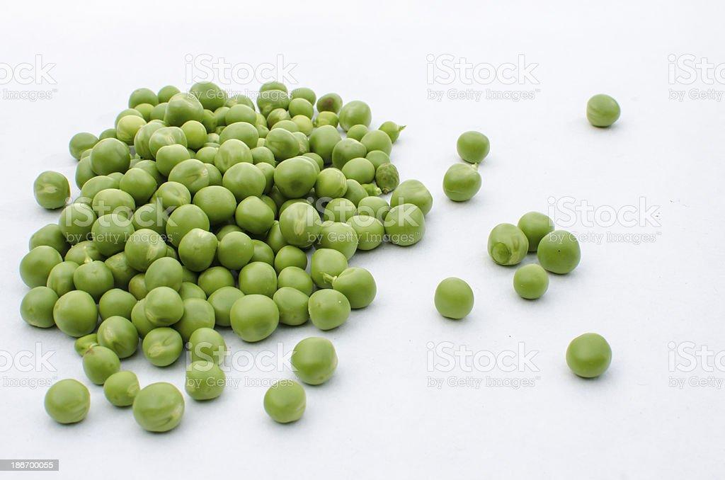 Peas on white royalty-free stock photo
