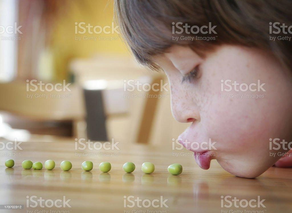 Peas Please Series royalty-free stock photo