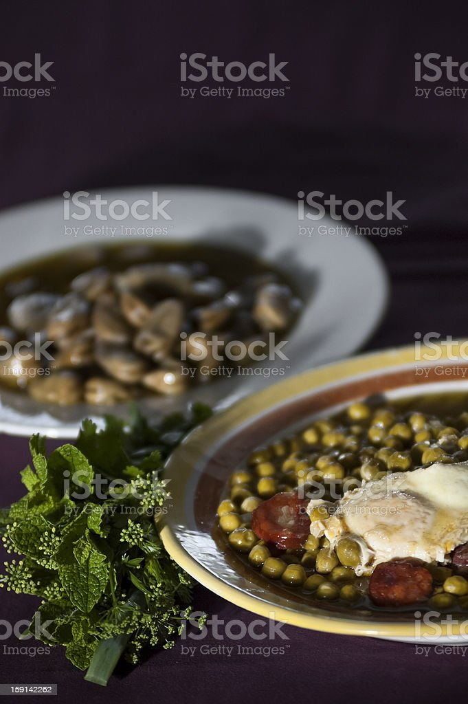 Peas soup royalty-free stock photo