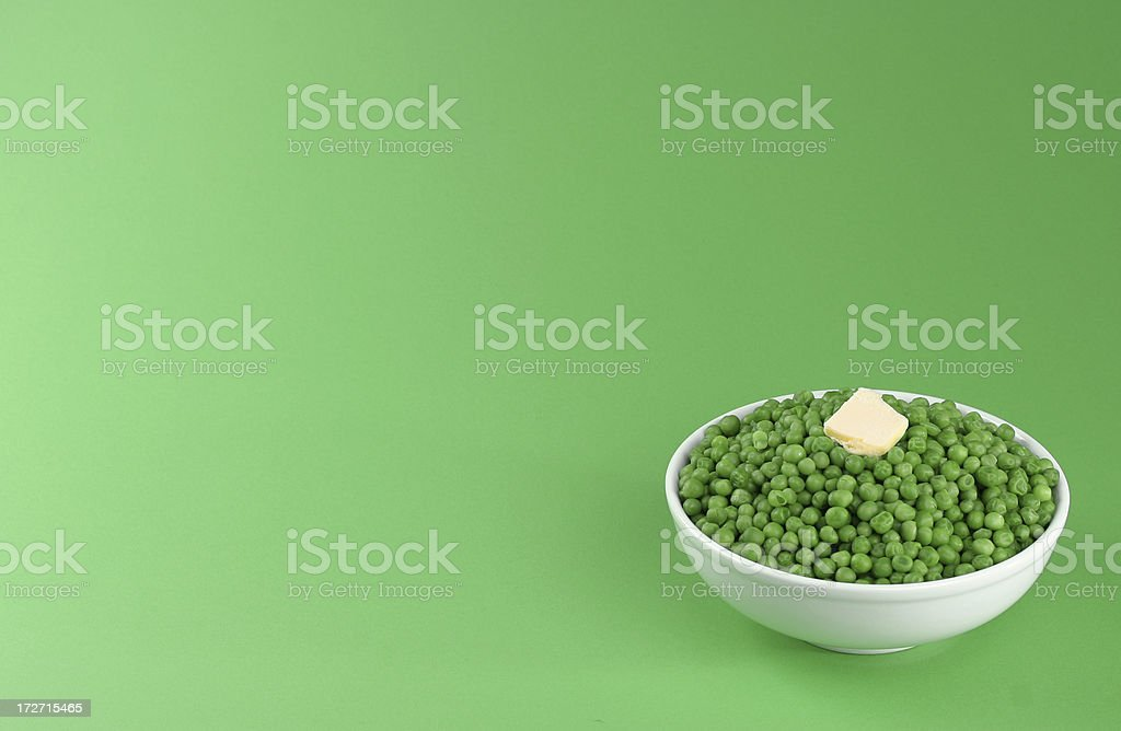 peas with copy space stock photo