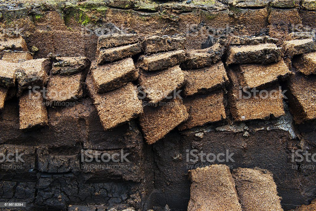 Peat excavation stock photo