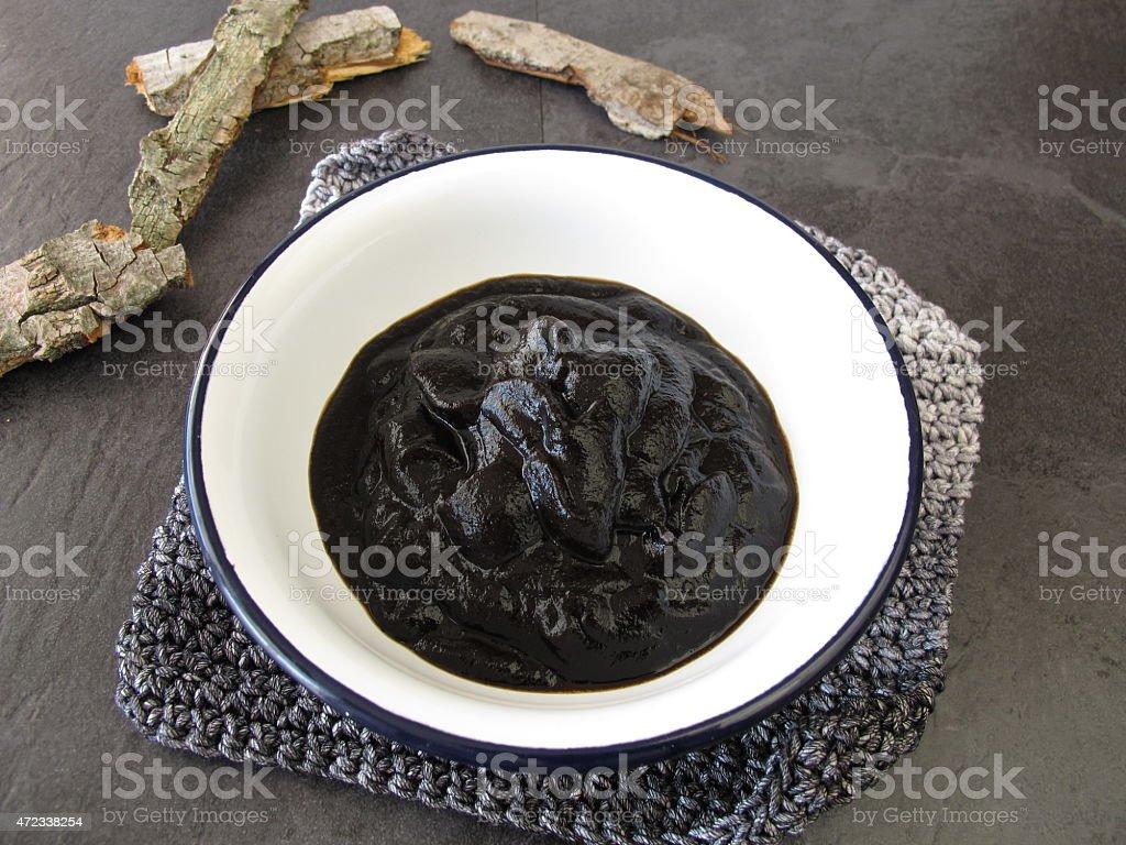 Peat pulp bath stock photo