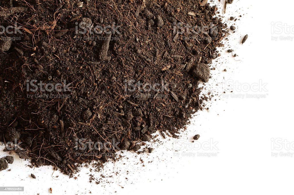 Peat soil stock photo