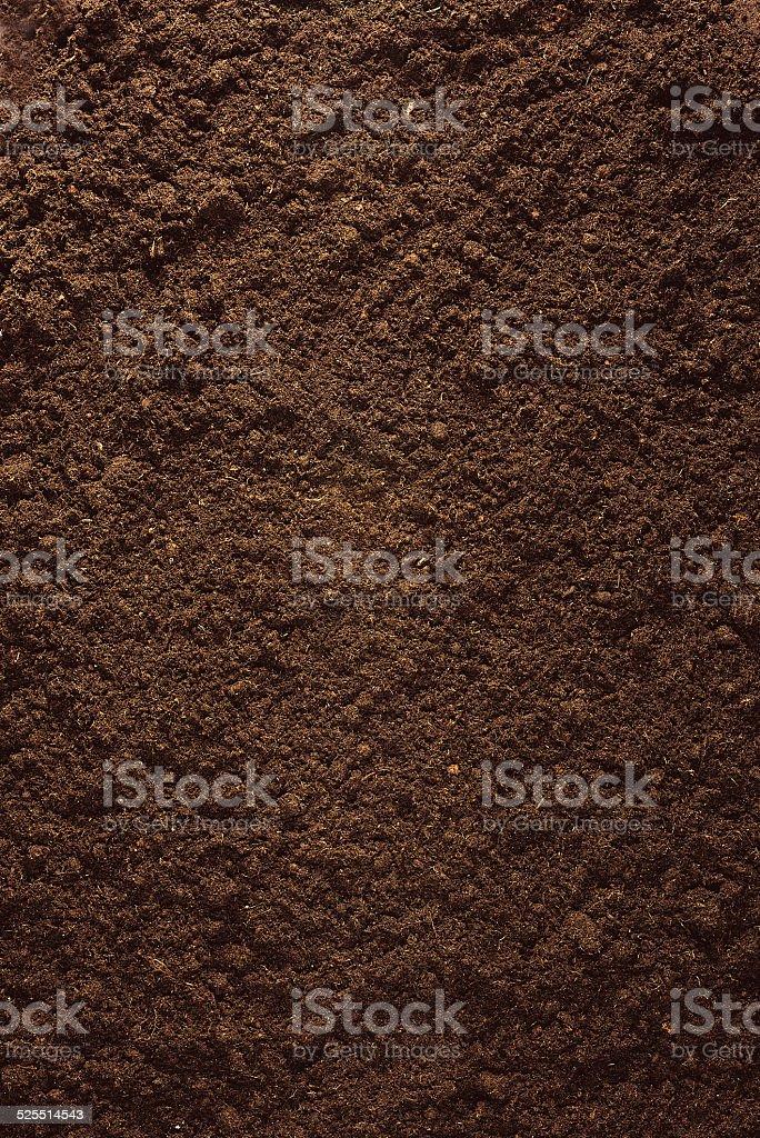 Peat Soil stock photo