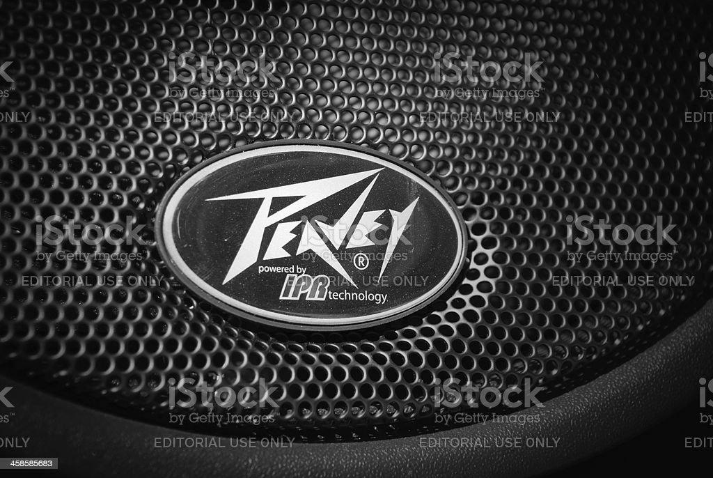 Peavey Logo on speaker stock photo