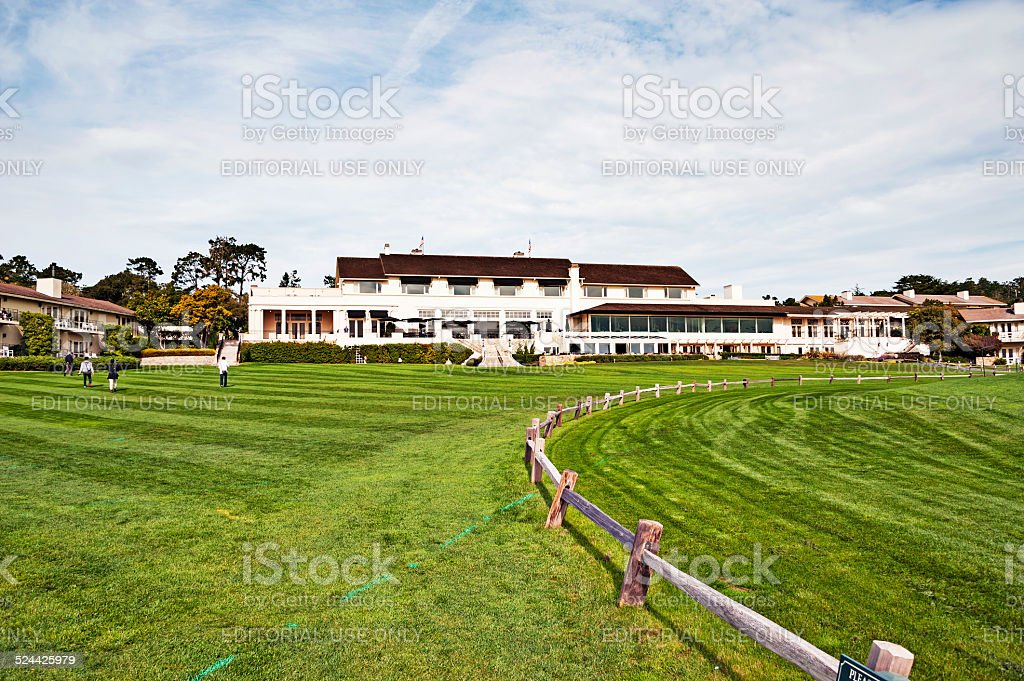 Pebble Beach Golf Course and Lodge stock photo