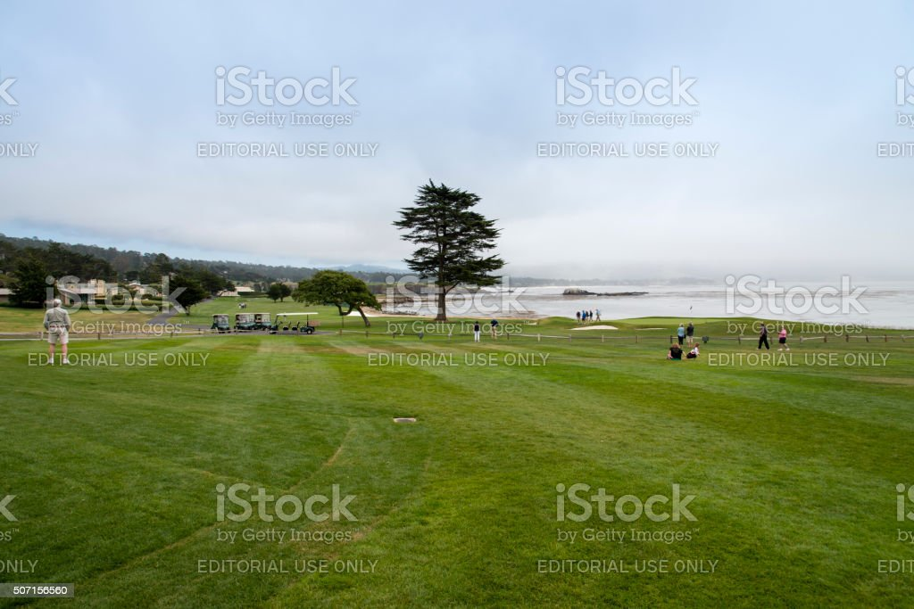 Pebble Beach Golf Course stock photo