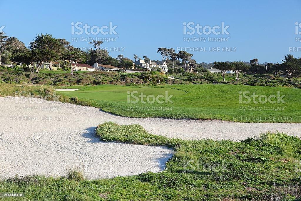 Pebble Beach Golf stock photo