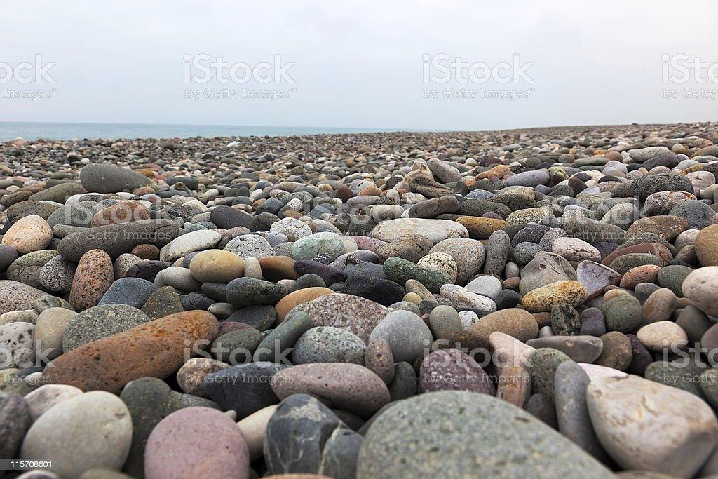 Pebble beach. Gonio. Georgia. royalty-free stock photo