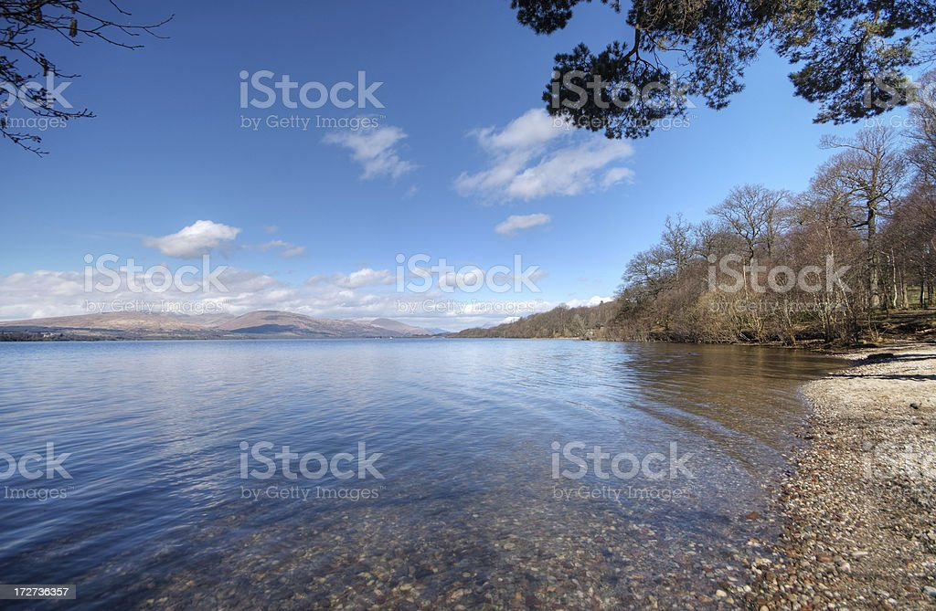 Pebble Beach On Loch Lomond royalty-free stock photo