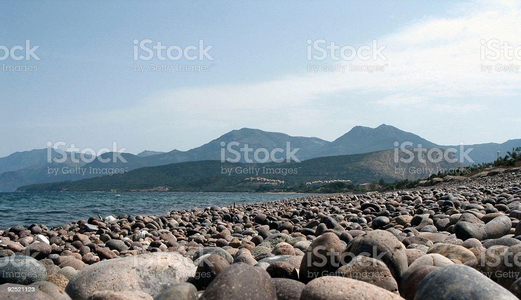 Pebble Coastline royalty-free stock photo