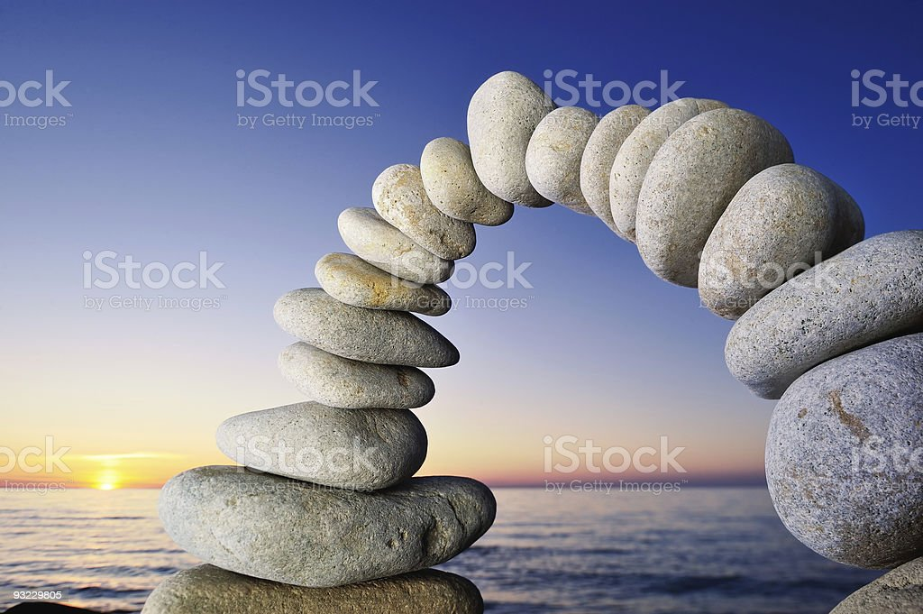 Pebble Flexure royalty-free stock photo