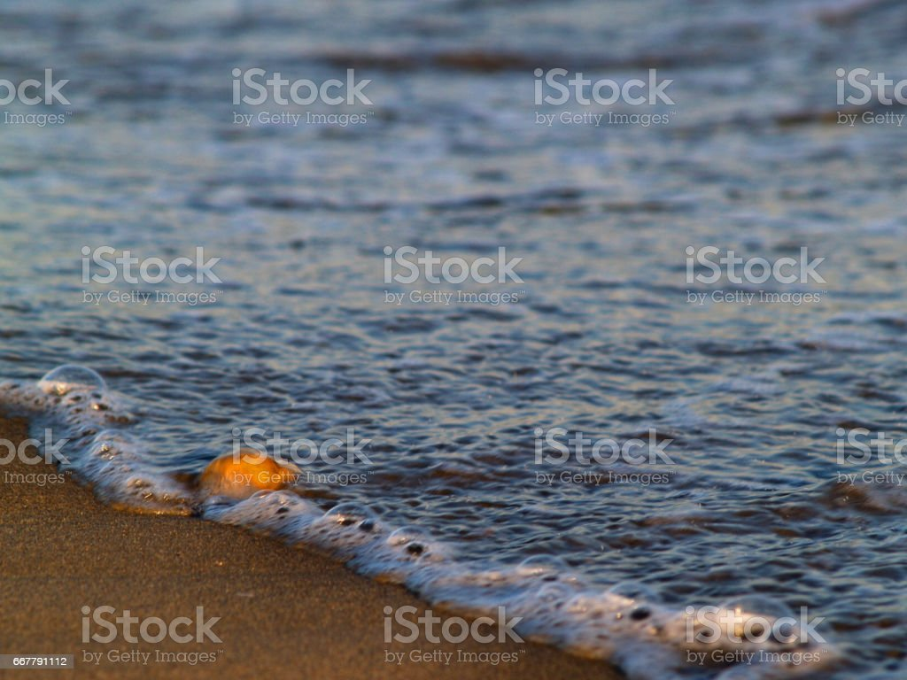 Pebble in a water stock photo