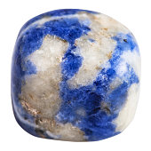 pebble of Sodalite mineral gemstone isolated