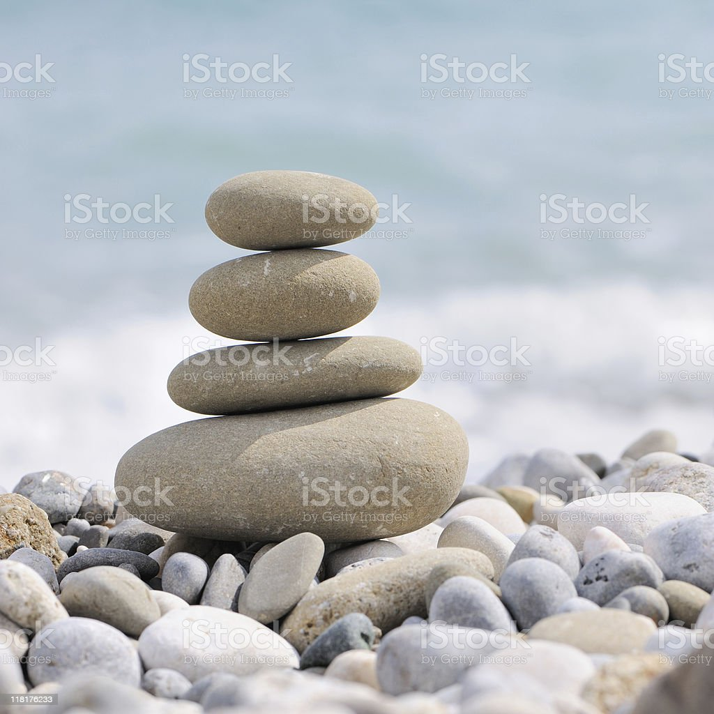 pebble on a beach royalty-free stock photo