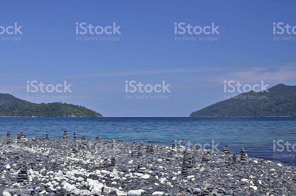 pebble on  Lipe island royalty-free stock photo