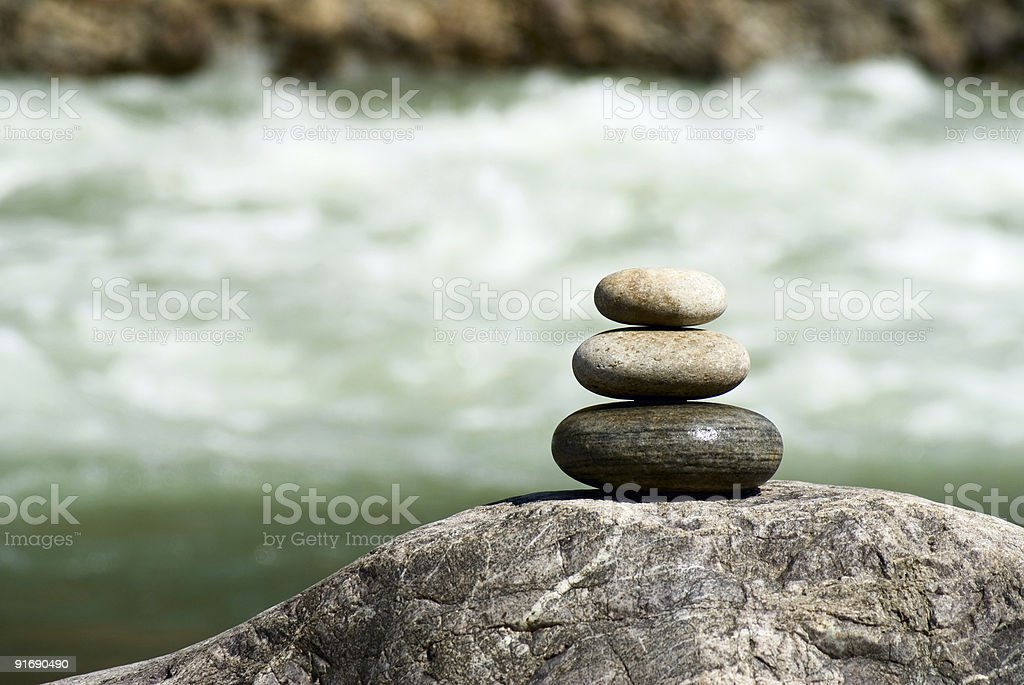 Pebble stack royalty-free stock photo