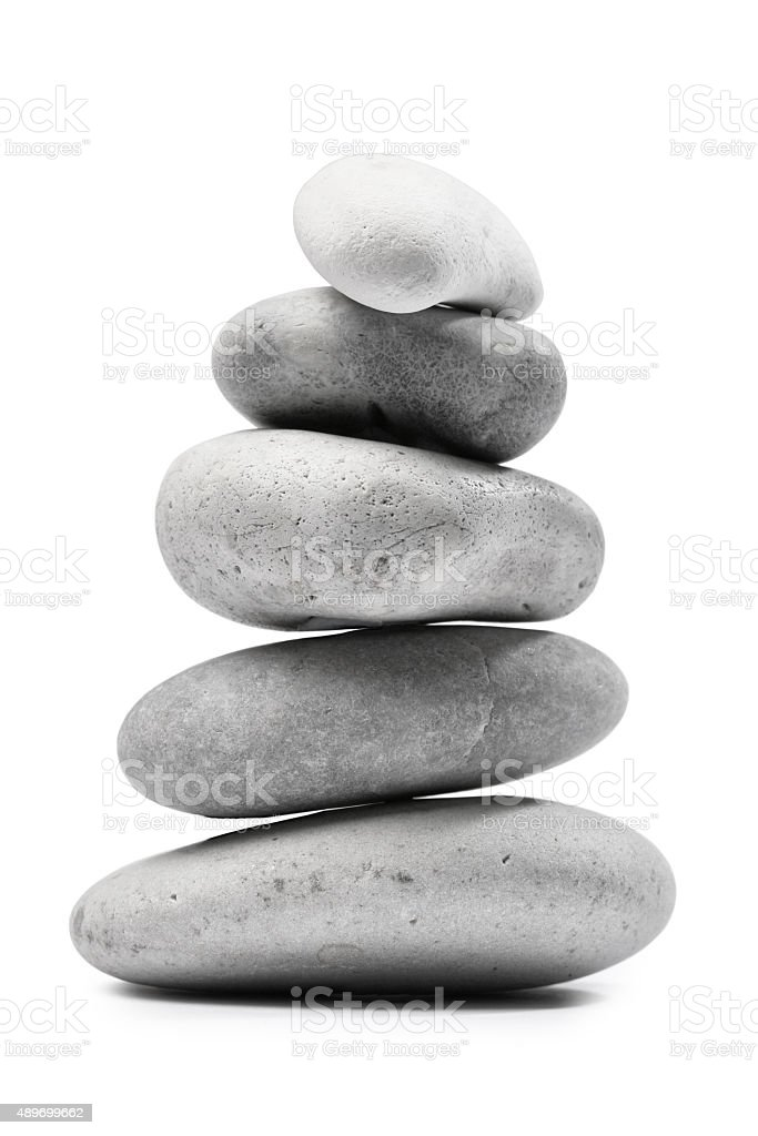 Pebble Stone Stack Pile stock photo