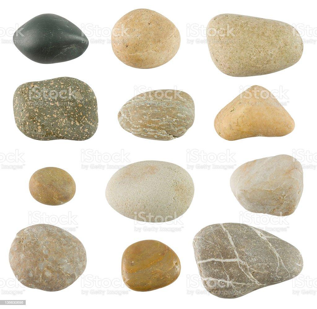 Pebble stones stock photo