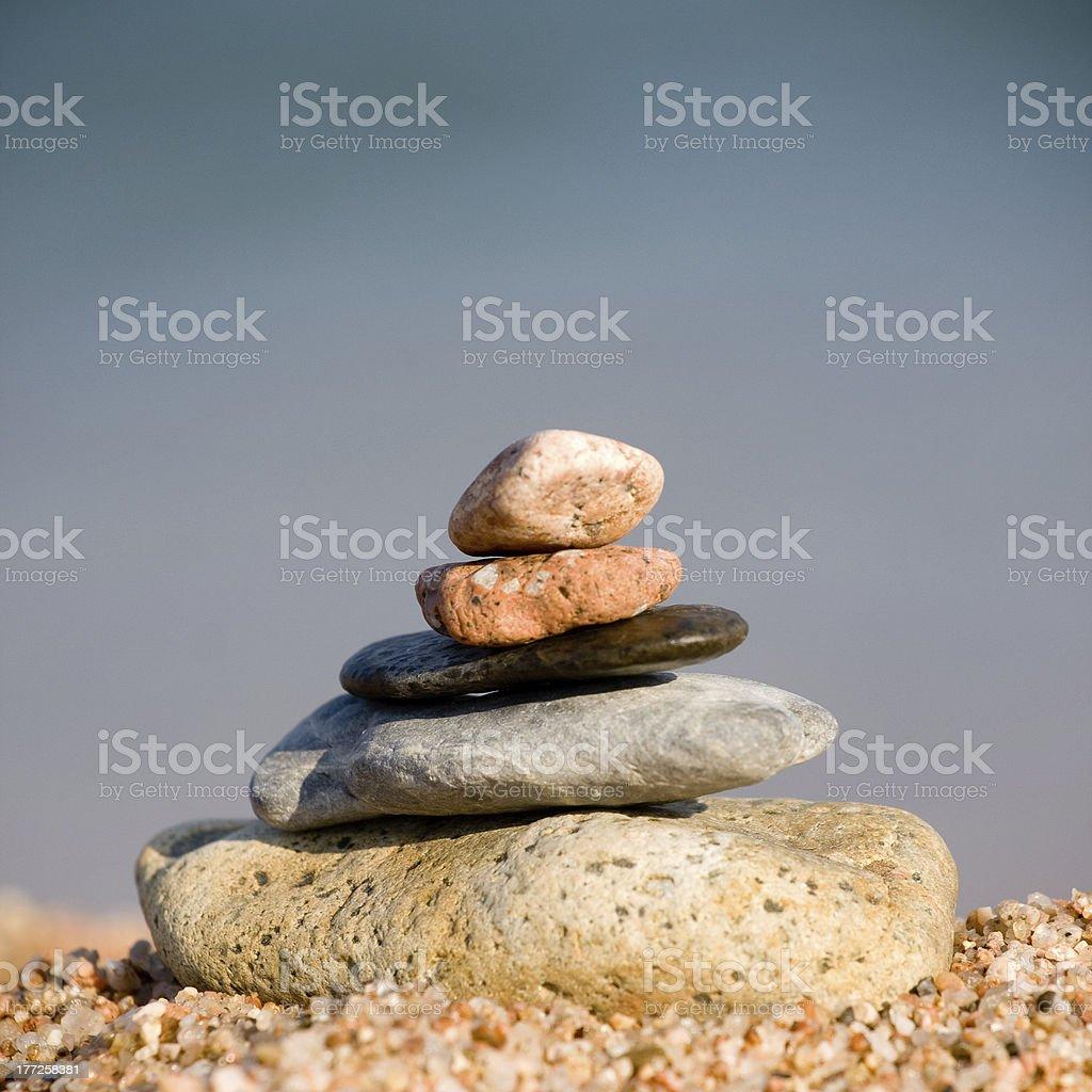 pebble tower royalty-free stock photo