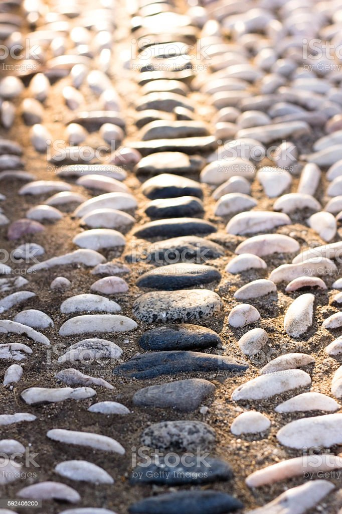 Pebble Walkway stock photo