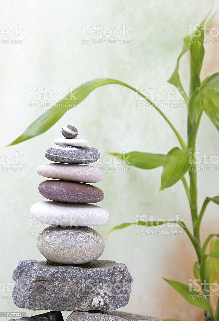 Pebbles and Bamboo royalty-free stock photo
