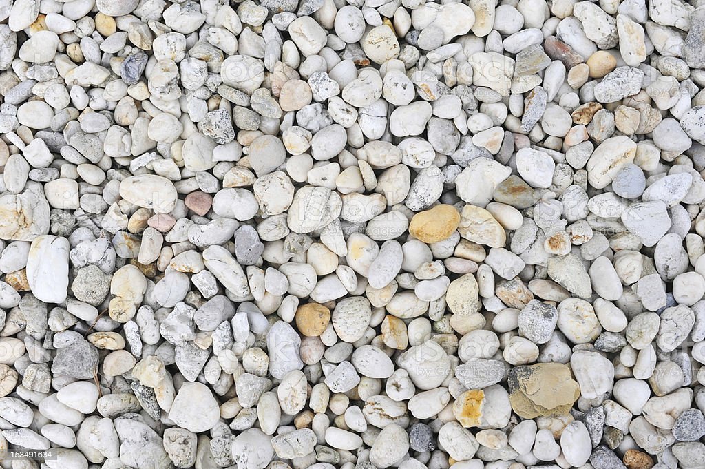 Pebbles and stones stock photo