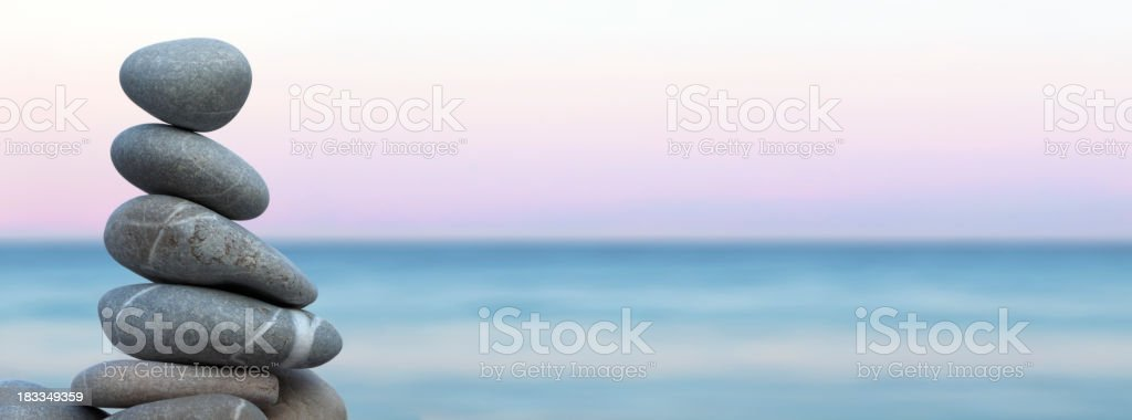 Pebbles Balance in the Beach royalty-free stock photo