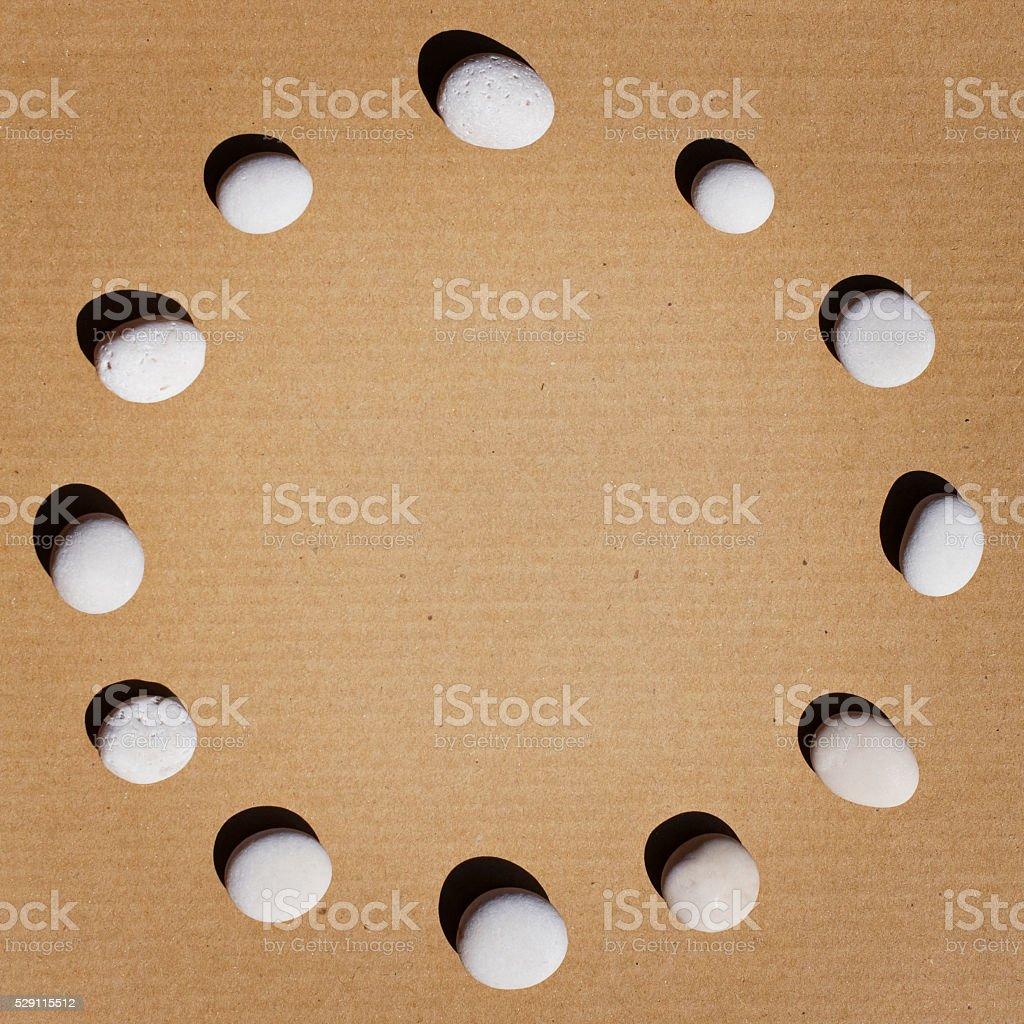 Pebbles circle stock photo