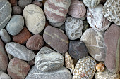 Pebbles in earth colors