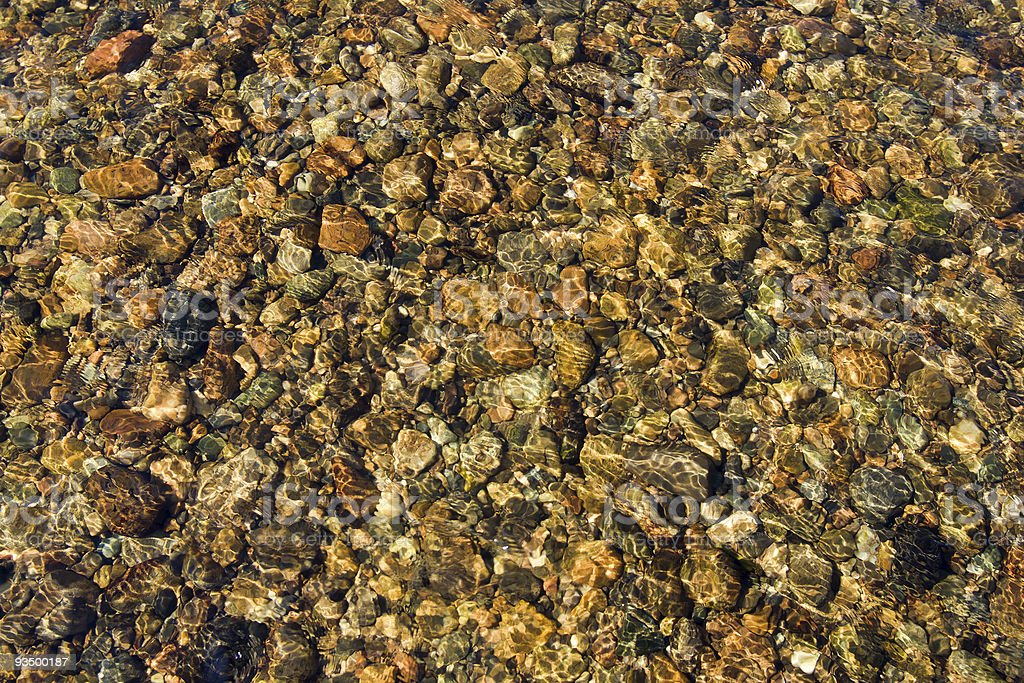 Pebbles in Stream stock photo