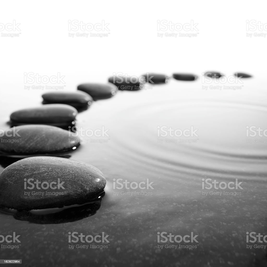pebbles in the water stock photo